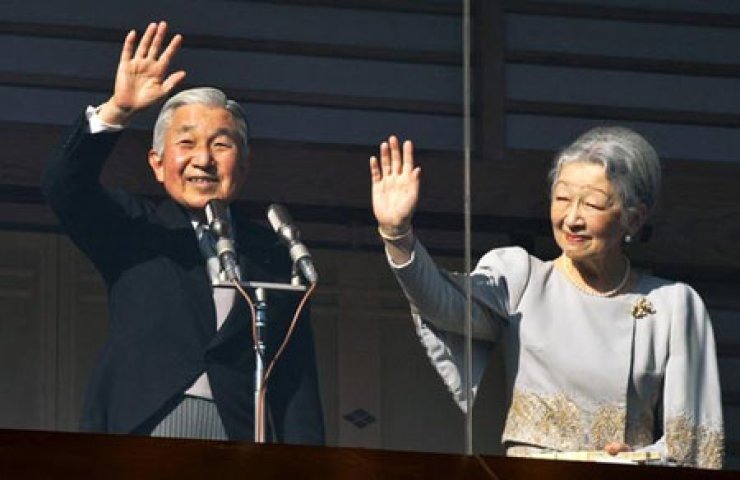 The Embassy of Japan in Korea held the 80th birthday party at a hotel in Seoul for Japanese Emperor Akihito, on left. On right is Empress Michiko. / Courtesy of MONEYTODAY