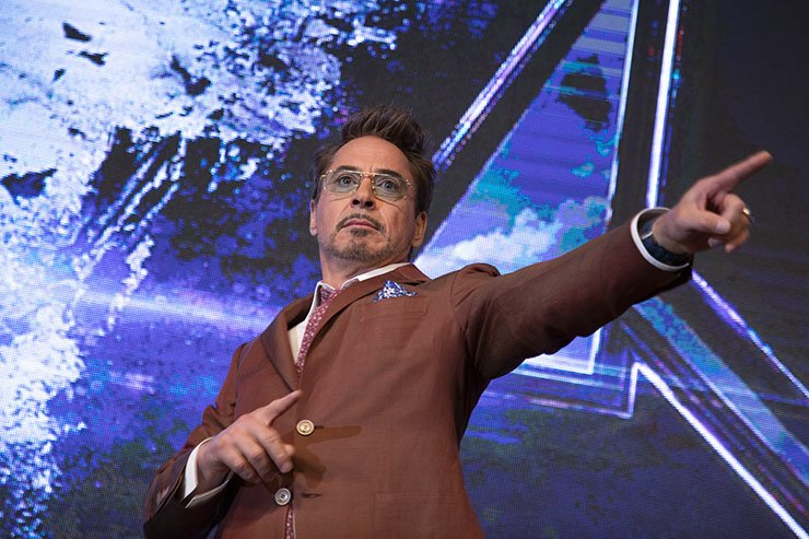 Robert Downey Jr. poses during a promotional event for Marvel's 'Avengers: Endgame' at Four Seasons Hotel in Seoul, Monday. Korea Times photo by Choi Won-suk