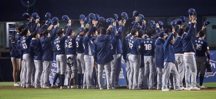 In just their fourth year in the league, the Dinos will be playing in their first Korean Series. / Yonhap