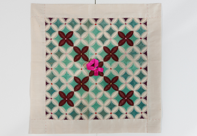 'Jogak Sangbo' (patchwork tablecloth) from the 19th century / Courtesy of the Museum of Korean Embroidery