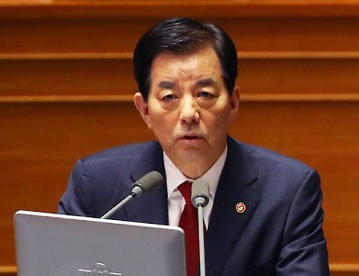 Defense Minister Han Min-koo said there is a special task force ready to assassinate North Korean leader Kim Jong-un in case of attack, during interpellation at South Korea's National Assembly on Wednesday. / Yonhap