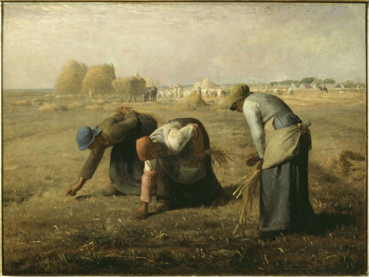 Jean-Francois Millet 'The Gleaners' (1857). / Courtesy of Musee d'Orsay