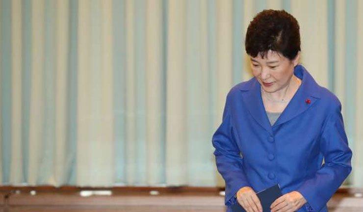 South Korean President Park Geun-hye is facing impeachment. / Korea Times file
