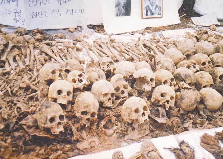 Remains of 153 victims who were killed in government-sponsored killings in Goyang, Gyeonggi Province in 1950 / Courtesy of Geumjunggul Human Rights and Peace Foundation