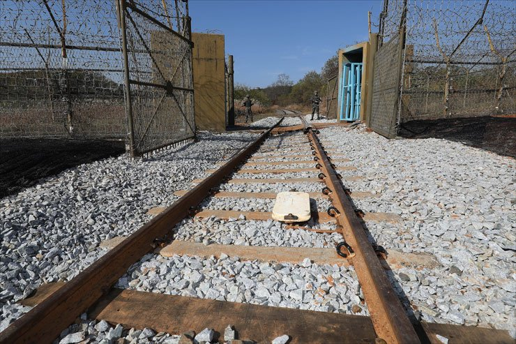 The railway of the Gyeongui Line along the west coast from Dorasan Station in Paju, Gyeonggi Province. / Korea Times file