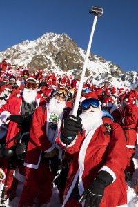Skier Santa