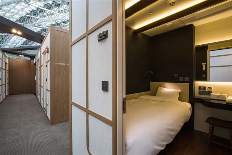 A capsule hotel at Incheon International Airport / Courtesy of Walkerhill Hotels and Resorts