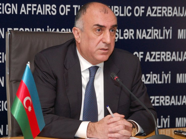 Azerbaijani Foreign Minister Elmar Mammadyarov speaks in this undated photo. / Embassy of Azerbaijan