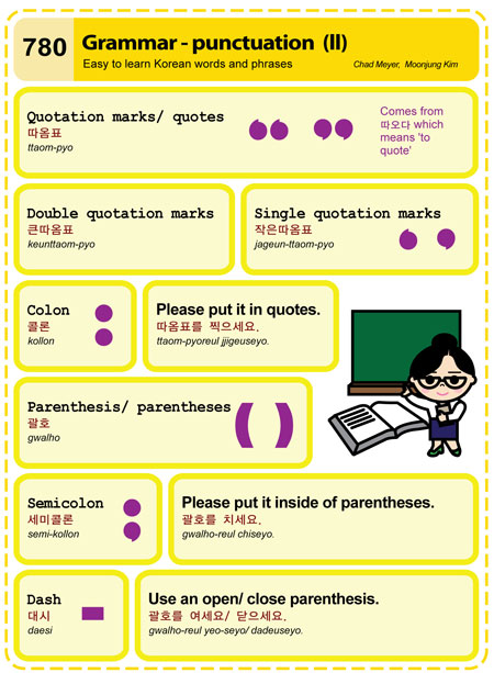 punctuation and grammar