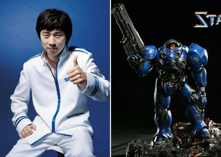Lim Yo-hwan, left, and Marine from Blizzard's StarCraft / Korea Times file