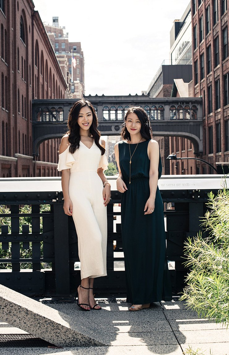 Sarah Lee, left, and Christine Chang, co-founders and CEO of the U.S.-based K-beauty retailer Glow Recipe, pose in this file photo. This May, the two launched their own skin care products company. / Courtesy of Glow Recipe