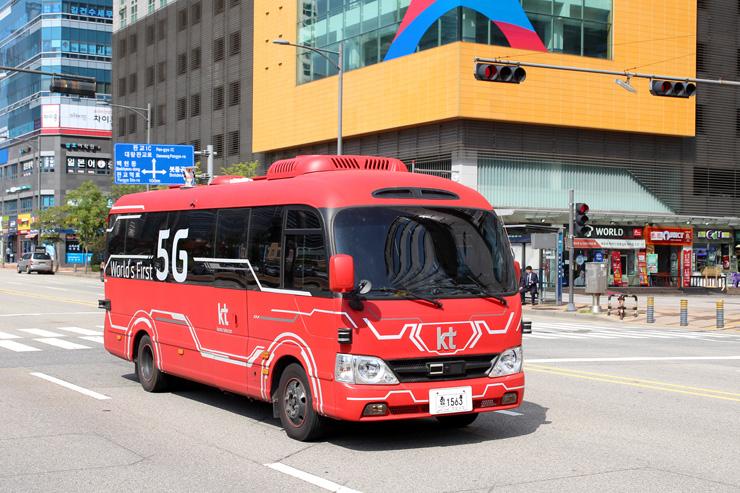 KT Teilautonomer Bus in Südkorea.