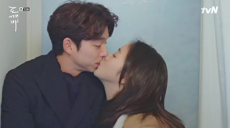 Gong Yoo, left, and Kim Go-eun played a romantic couple in tvN's sensational TV drama series 'Guardian: The Lonely and Great God' that ended in January. / Korea Times file