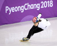 From top left clockwise, Yun Sung-bin in the men's skeleton, Lee Sang-hwa in the ladies' 500-meter speed skating, Shim Suk-hee in the ladies' 1,500-meter short track speed skating and Lim Hyo-jun in the men's 1,000-meter short track speed skating will compete for gold in their respective events during the Lunar New Year holiday from Thursday to Sunday. / Yonhap