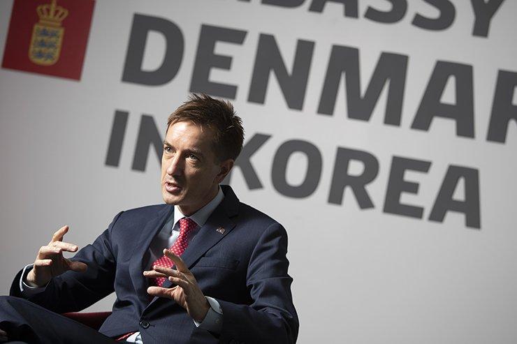 Danish Ambassador to Korea Thomas Lehmann speaks with The Korea Times at his embassy in Seoul, May 14. / Korea Times photo by Choi Won-suk