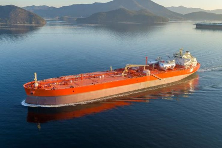 An LNG-propelled crude carrier built by Samsung Heavy Industries / Courtesy of Samsung Heavy Industries