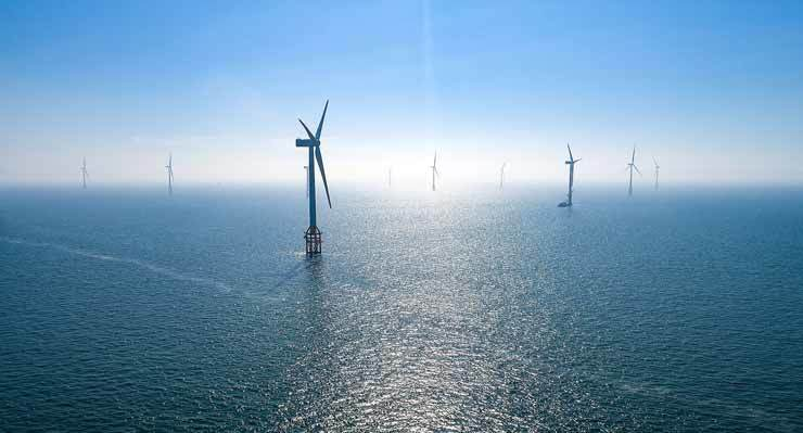 Doosan Heavy Industry & Construction built Korea's first offshore wind power facilities adjacent to Jeju Island in 2017. / Courtesy of Doosan Heavy Industry & Construction