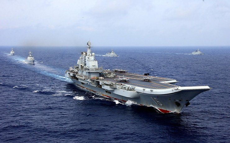 China's aircraft carrier Liaoning takes part in a military drill of Chinese People's Liberation Army Navy in the western Pacific Ocean, April 18, 2018. Reuters