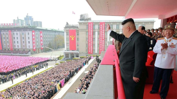 North Korean leader Kim Jong-un in Pyongyang. Analysts say an oil embargo could paralyse Kim's government.