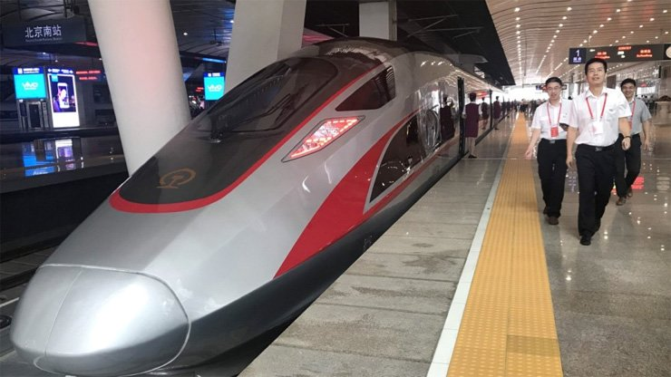 The Fuxing trains will travel at 350km/h but have a top speed of 400km/h.