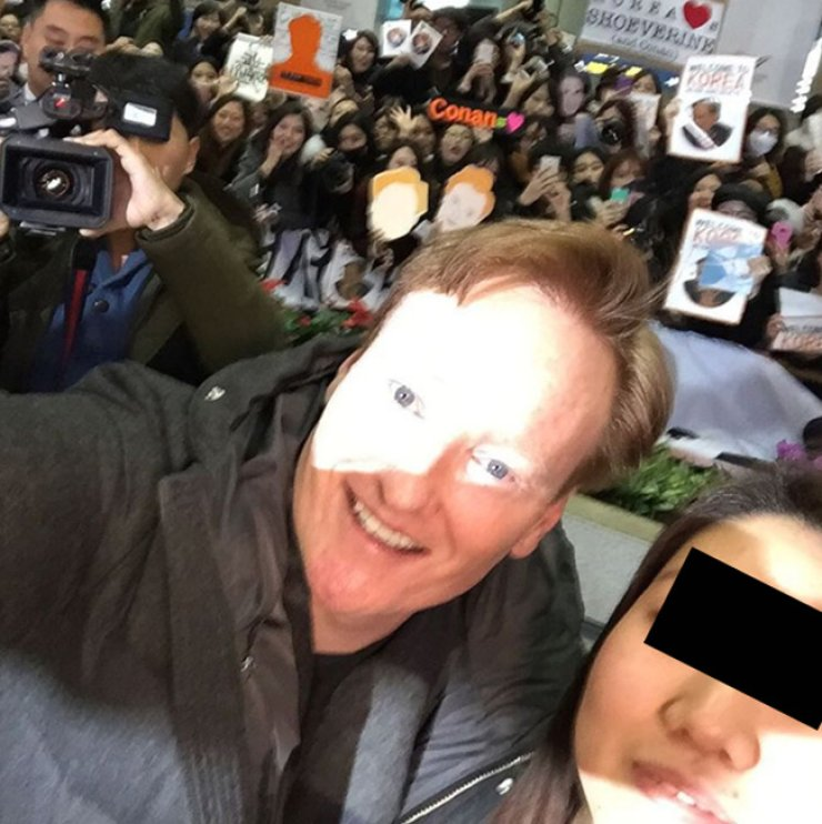 Conan O'Brien, left, and Sunny Lee / Courtesy of Instagram
