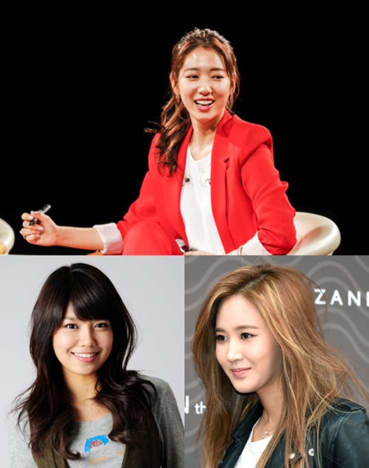 Park Shin-hye, Sooyoung, Yuri / Korea Times file