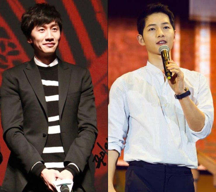 Lee Kwang-soo, Song Joong-ki / Courtesy of Blossom Entertainment