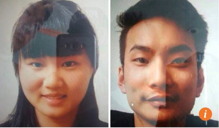 Photos made available by Pakistani police show Chinese nationals Meng Li Si (left) and Lee Zing Yang who were abducted by armed men in Quetta on May 24.