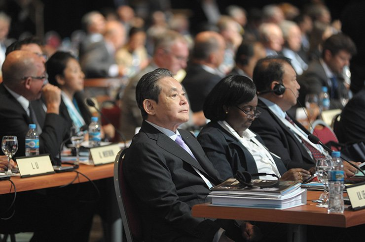 Samsung Group Chairman Lee Kun-hee at the 125th IOC Meeting on Sep. 9, 2013, in Buenos Aires, Argentina. / Yonhap