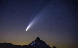 Comet Neowise in the sky. It won't be back for 6,800 years.