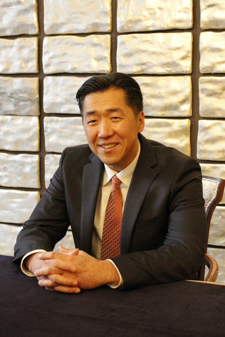 Global Peace Foundation (GPF) Chairman Moon Hyun-jin spoke with The Korea Times in Seoul on Feb. 25. / Korea Times photo by Park Ji-won