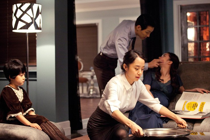 Japan has started hiring foreign housekeepers for the first time to encourage Japanese housewives to work outside their homes. A scene from 'The Housemaid'