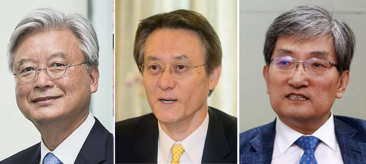 From left, Cho Yoon-je, Noh Young-min, and Lee Su-hoon / Yonhap