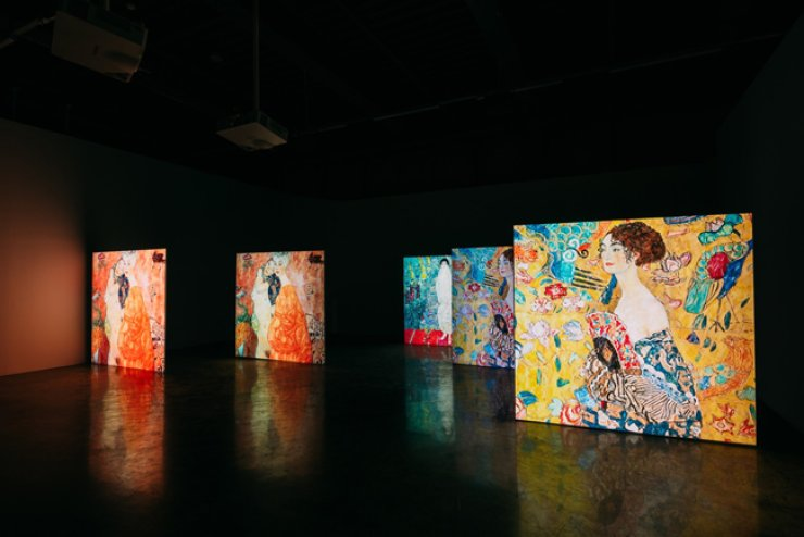 The 'Klimt Inside' exhibition is held at the S-Factory in Seongsu-dong, Seoul. / Courtesy of Hash Company