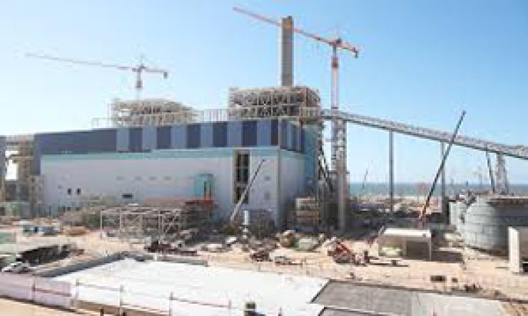 The Safi coal-fired plant in Morocco under construction. / Courtesy of Daewoo E&C