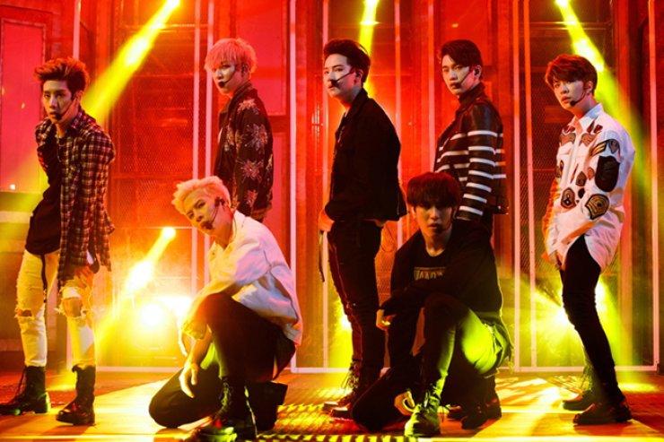 JYP boy band GOT7 will participate at the 2016 Mnet Asian Music Awards at the AsiaWorld-EXPO, Hong Kong, Friday. / Courtesy of CJ E&M