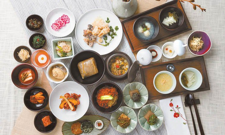 A photograph of a multi-course temple food set, Hee, available at the Balwoo Gongyang restaurant in downtown Seoul. / Courtesy of Balwoo Gongyang