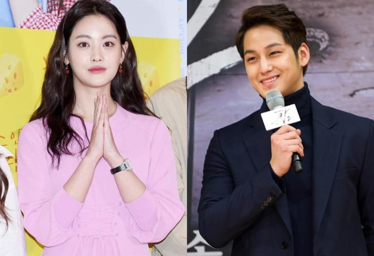 Oh Yeon-seo and Kim Beom / Korea Times file