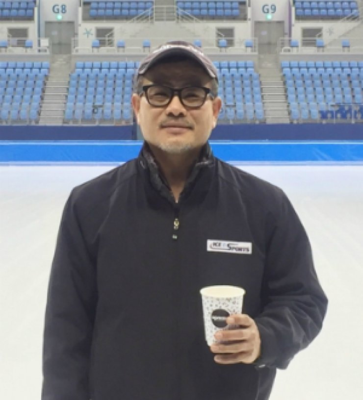 Bae Ki-tae, assistant ice technician at Gangneung Ice Arena. / Yonhap