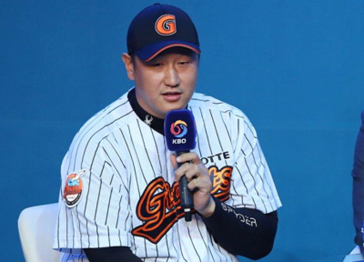 Lotte Giants' first baseman Lee Dae-ho / Yonhap