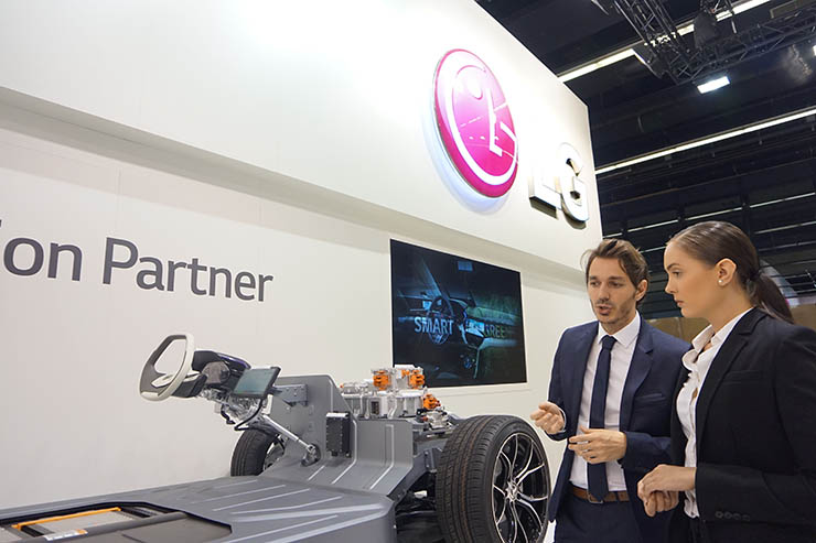 LG to showcase car components at German motor show