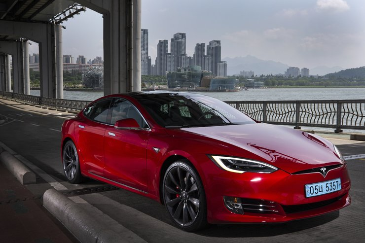 Tesla Model S P100d / Korea Times photo by Shim Hyun-chul