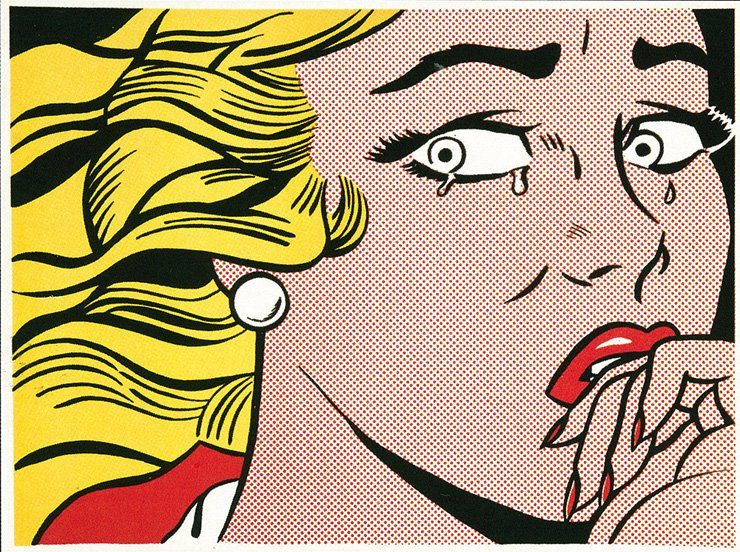 Modern art center M CONTEMPORARY hosts a special pop art exhibition 'HI, POP' until March 18. Shown is 'Crying Girl'(1963) by Roy Lichtenstein. /Courtesy of M CONTEMPORARY
