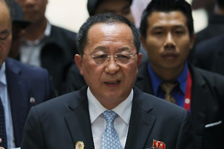 North Korean media reports foreign minister's trip to Sweden