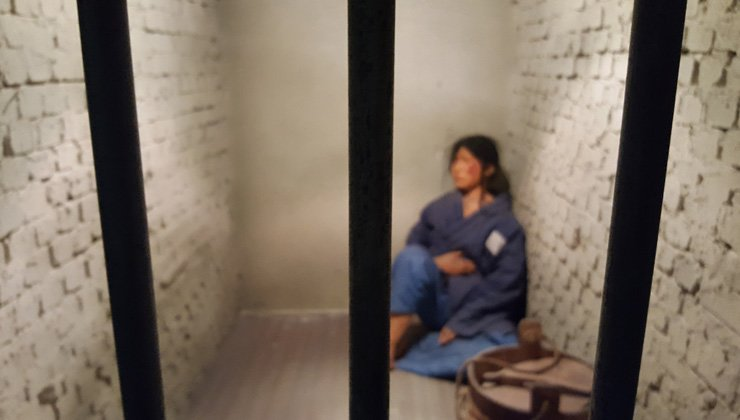 A solitary cell at the Seodaemun Prison History Hall in Seoul / Korea Times photos by Jung Min-ho