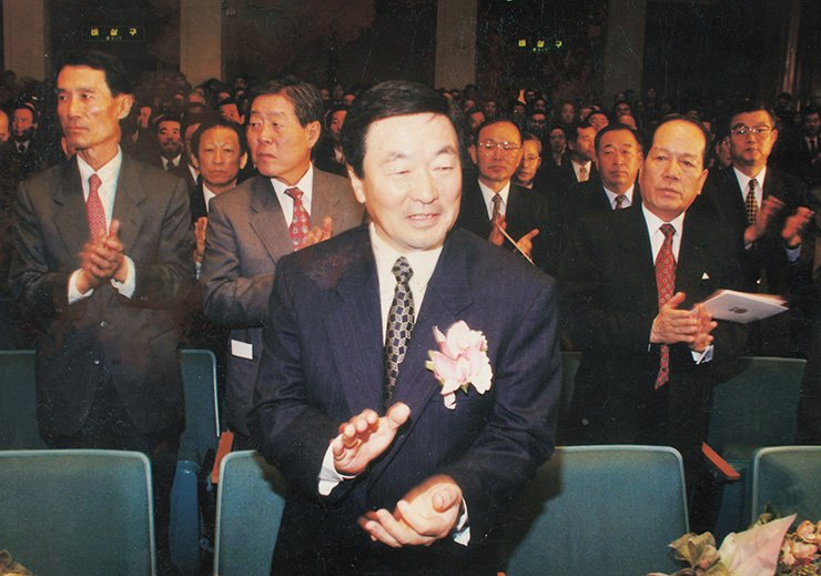 Koo Bon-moo, the new appointed LG chairman in 1995 / Korea Times file