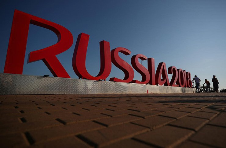 A view of a World Cup sign in Sochi / Reuters