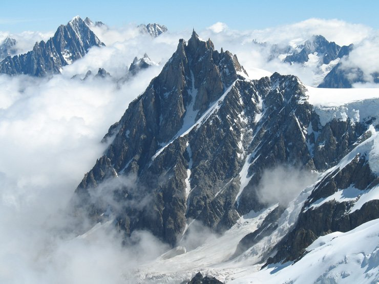 Mont Blanc in French Alps / Courtesy of Wikipedia
