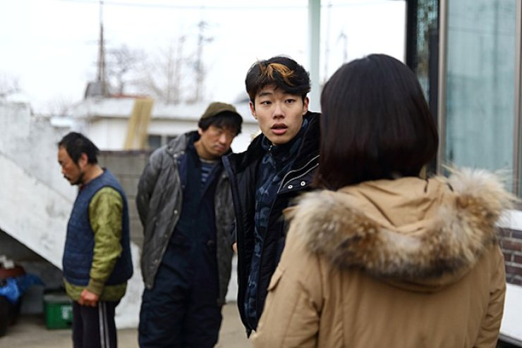 Ryu Jun-yeol, second from right, from movie 'No tomorrow' / Courtesy of Naver