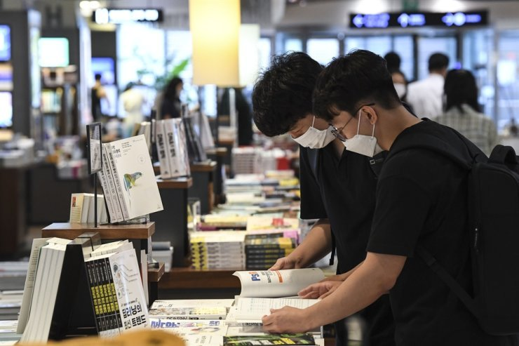 Book sales have shown a significant increase amid the pandemic. /Korea Times file